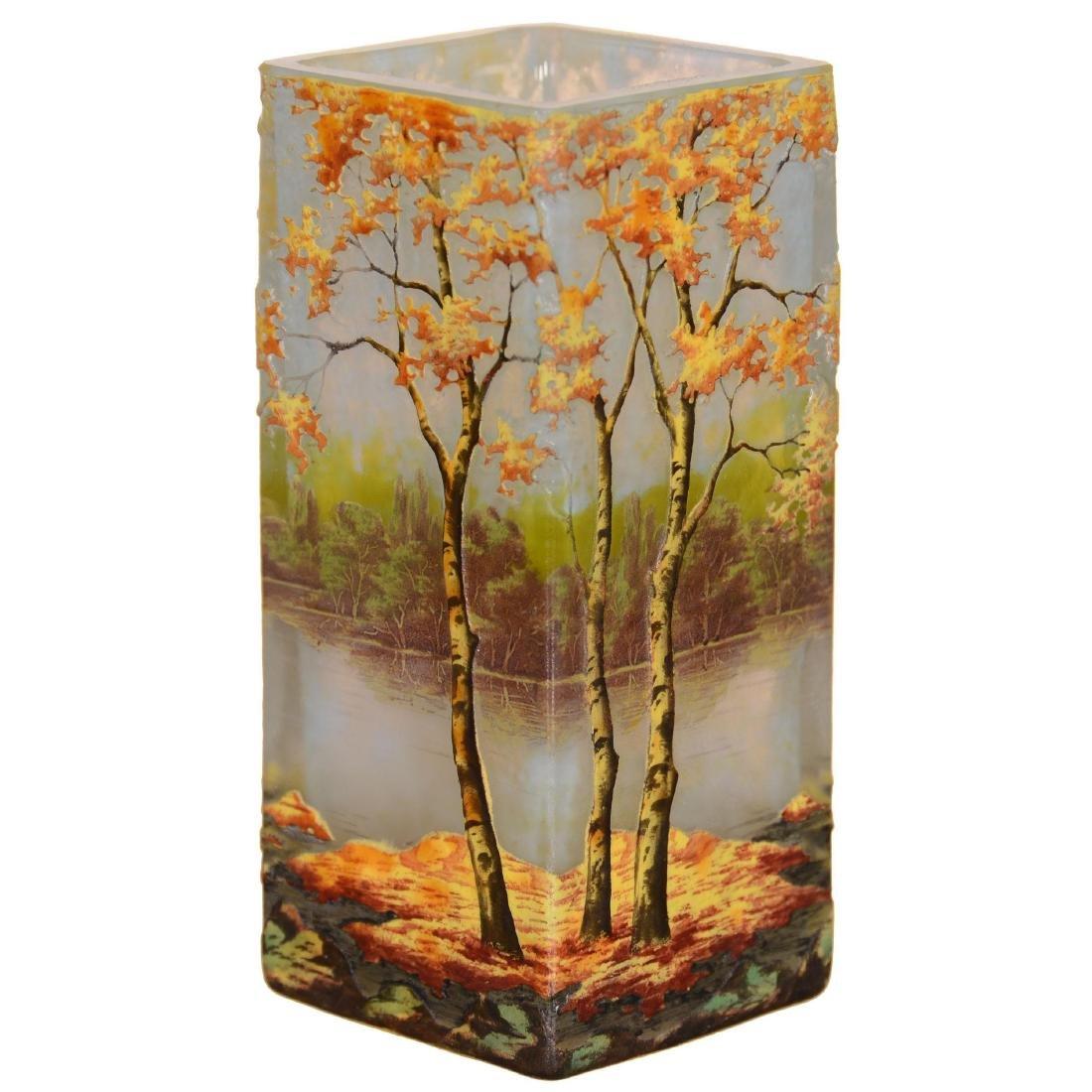 Daum Nancy French Cameo Art Glass Vase
