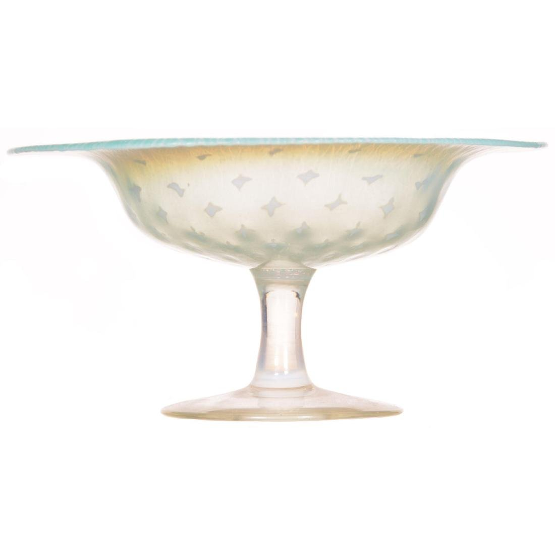 Tiffany Art Glass Compote