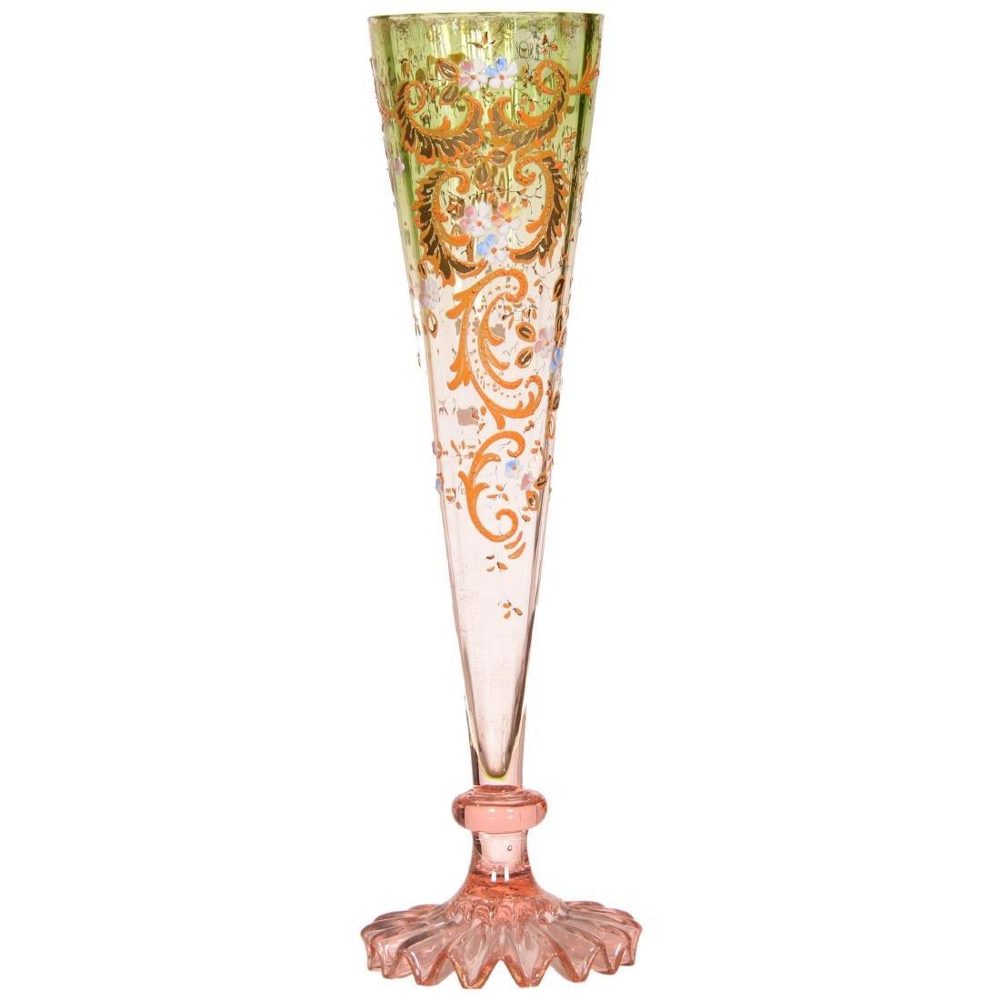 Art Glass Trumpet Vase