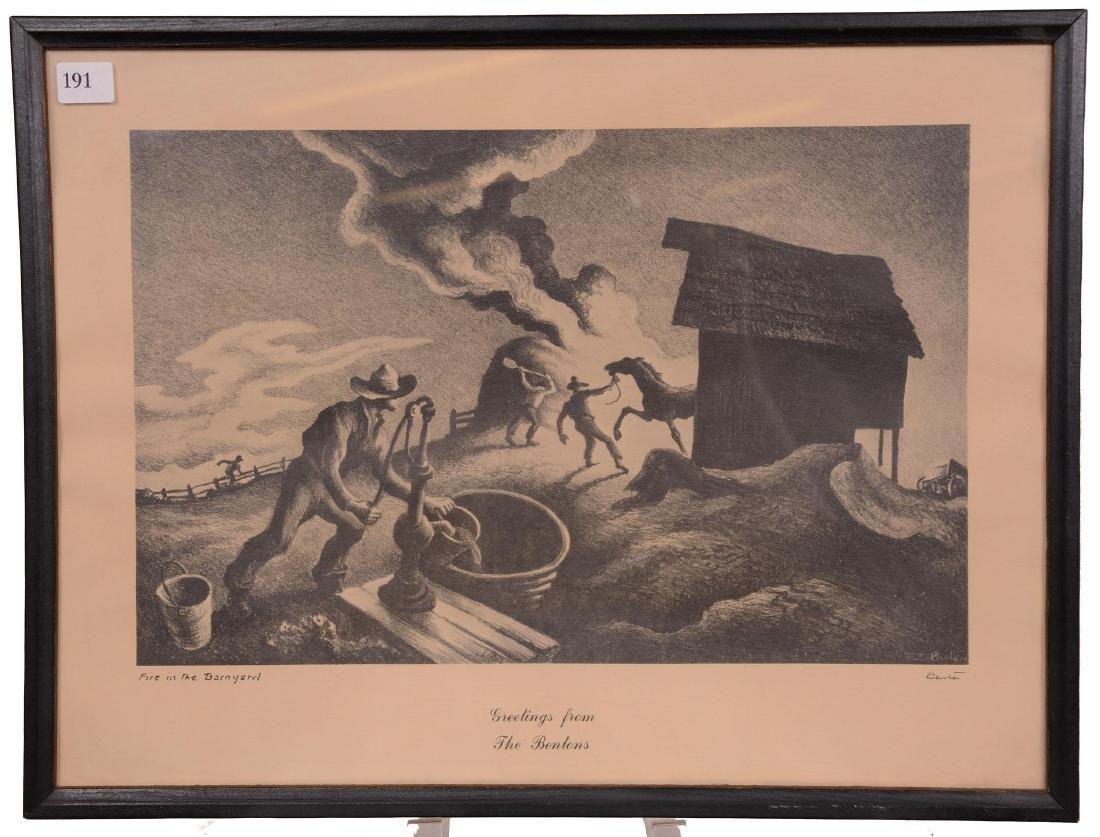 Original Thomas Hart Benton Lithograph