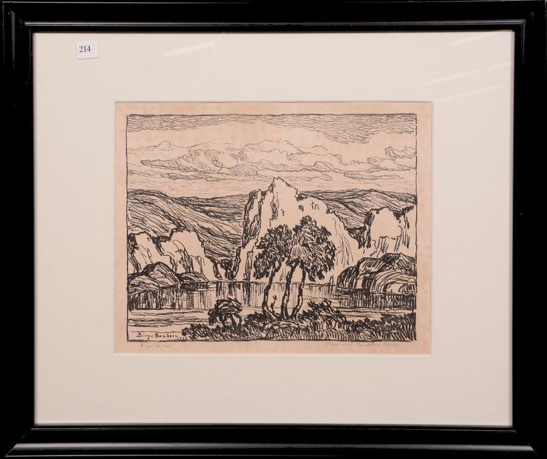 Original Birger Sandzen Lithograph