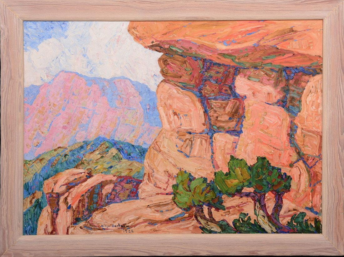 Original Birger Sandzen Oil Painting on Canvas