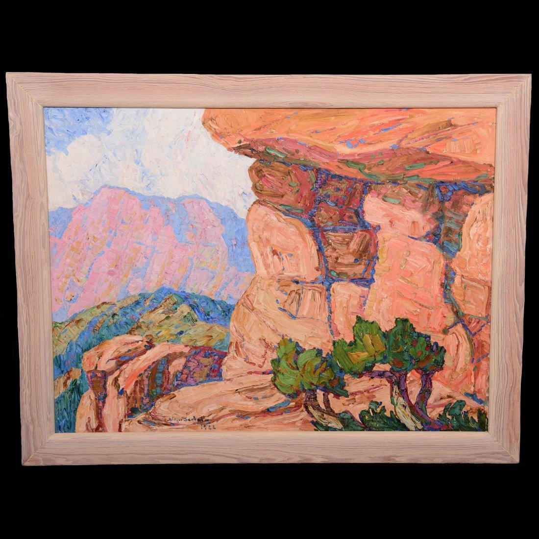 Original Birger Sandzen Oil Painting on Canvas - 9