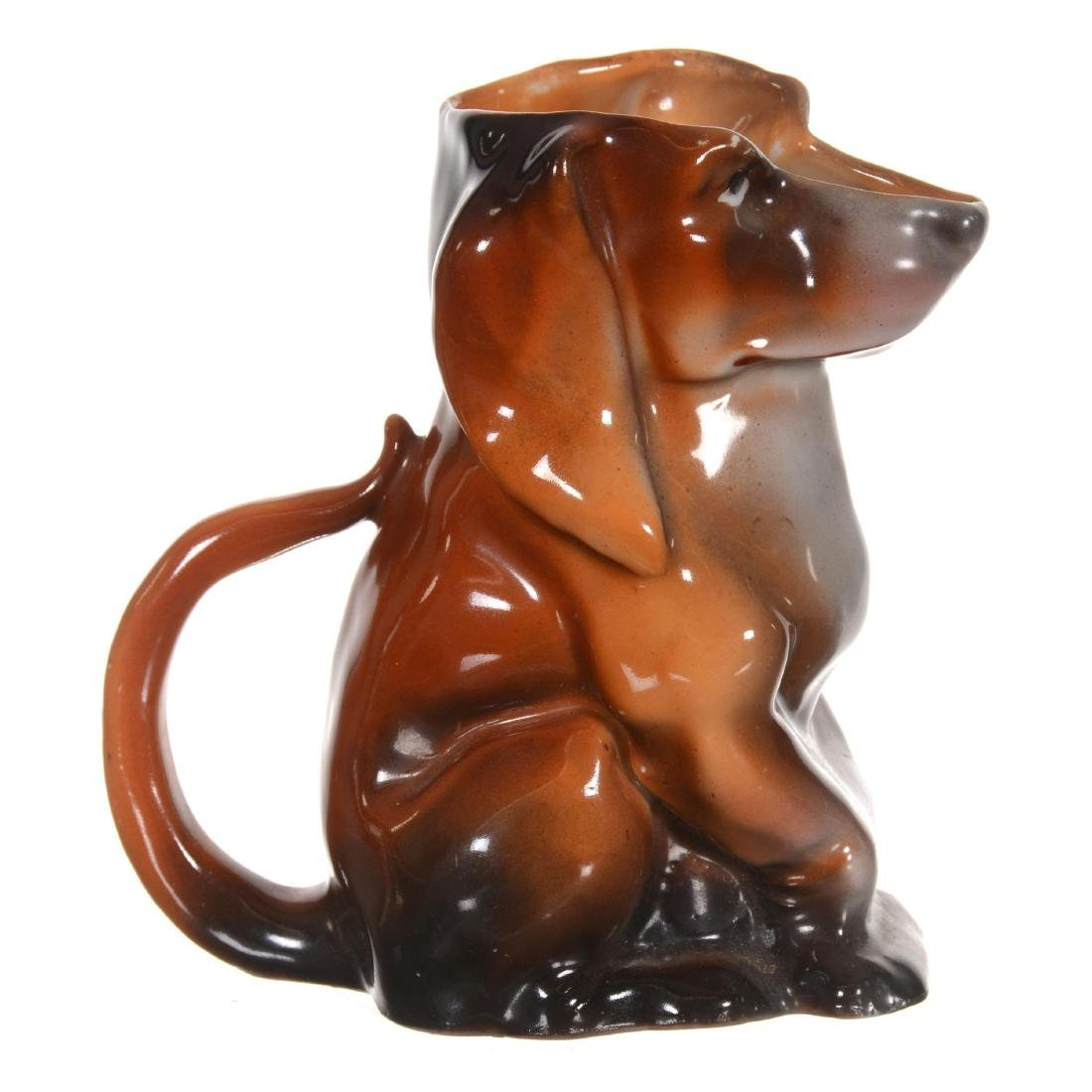 Royal Bayreuth Dachshund Milk Pitcher - 2
