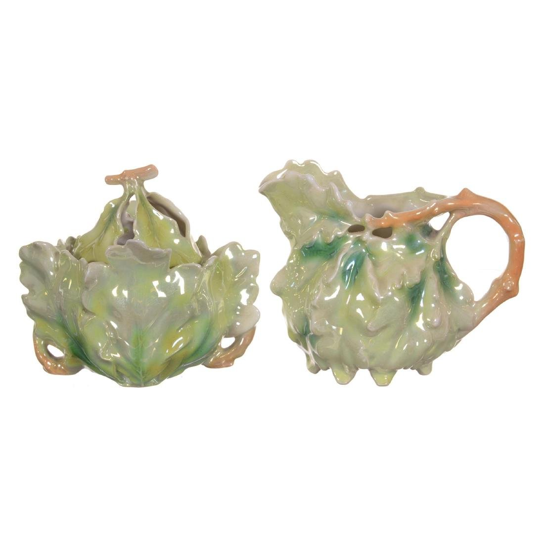 Royal Bayreuth Oak Leaf Creamer and Sugar