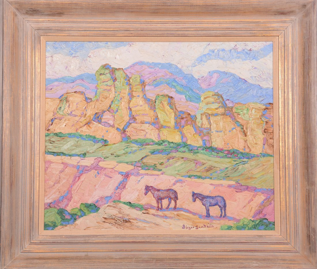 Original Birger Sandzen Oil Painting on Board