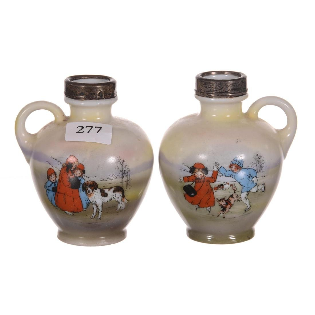 (2) Royal Bayreuth Handled Jugs