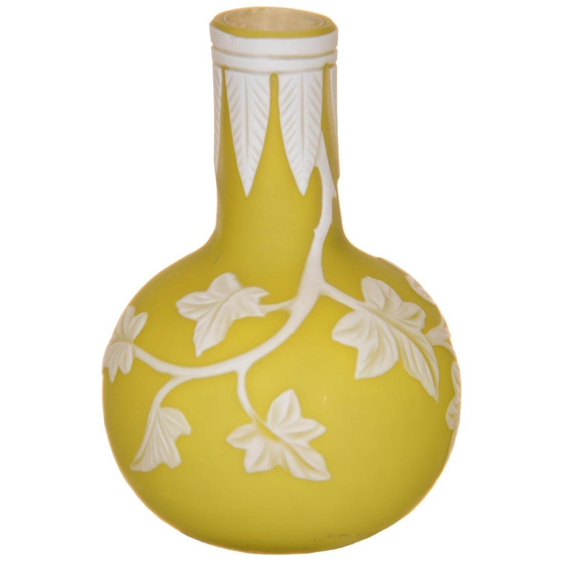 English Cameo Art Glass Miniature Vase