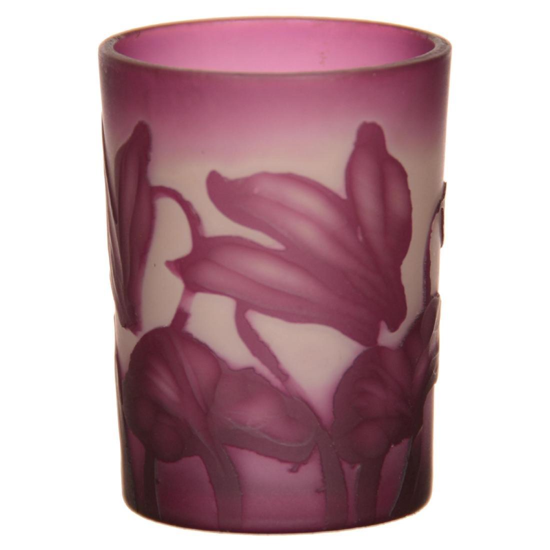 French Cameo Art Glass Shot Glass