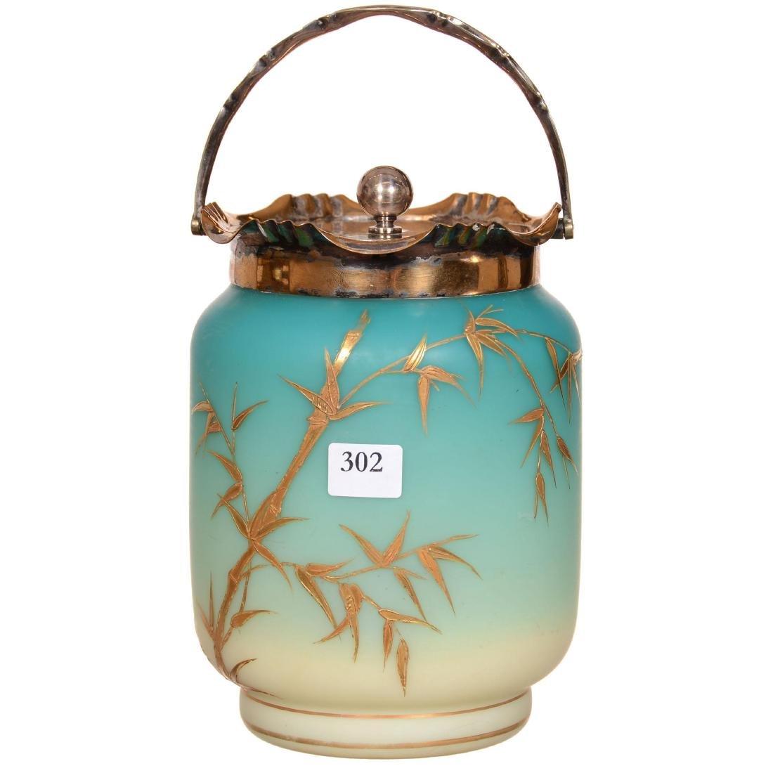 Webb Art Glass Biscuit Jar