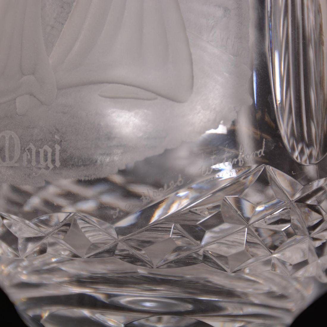 Waterford Cut Crystal Pedestal Vase - 2