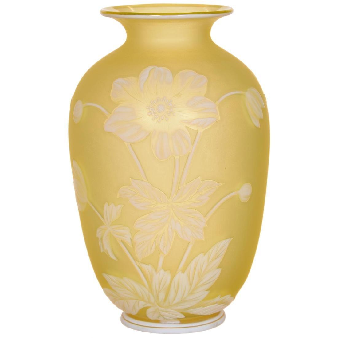 English Cameo Art Glass Vase