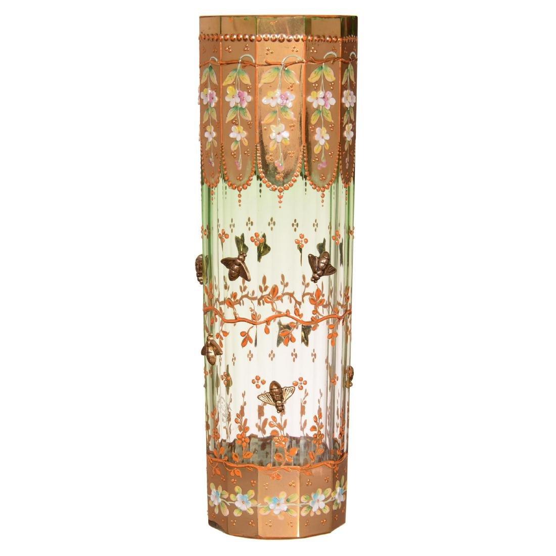 Moser Style Art Glass Vase
