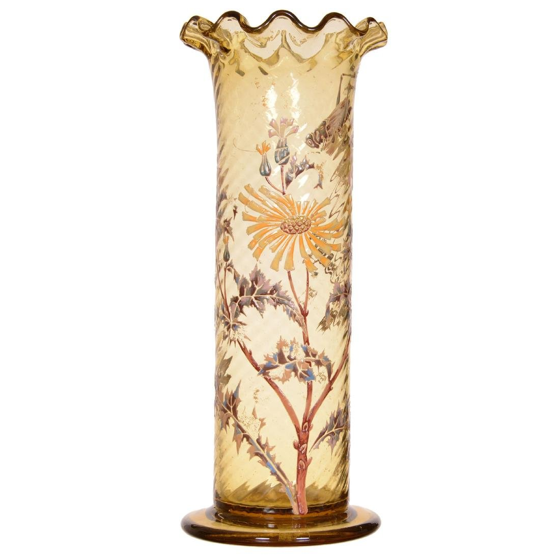 French Vallerysthal Art Glass Vase