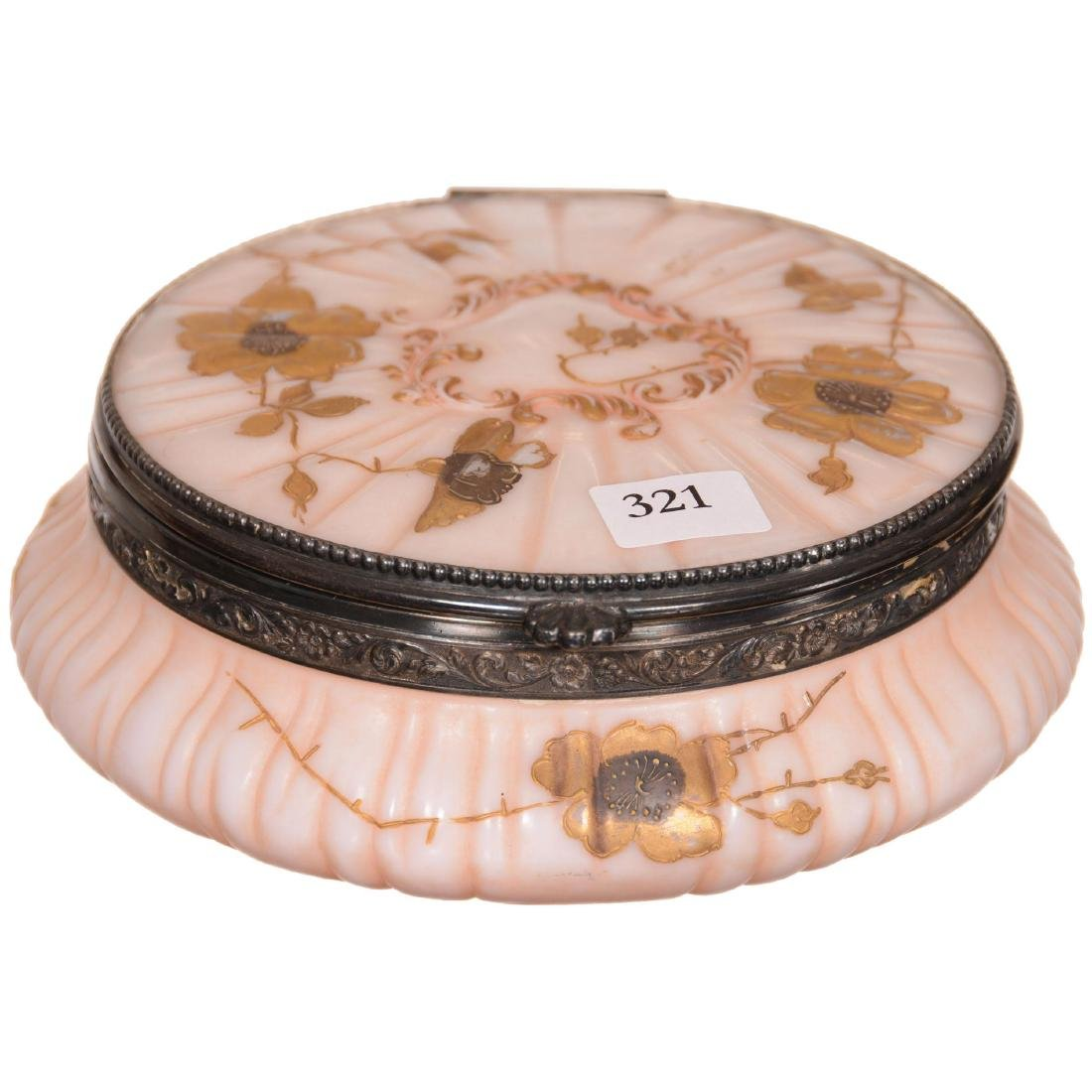 Pairpoint Art Glass Round Hinged Box