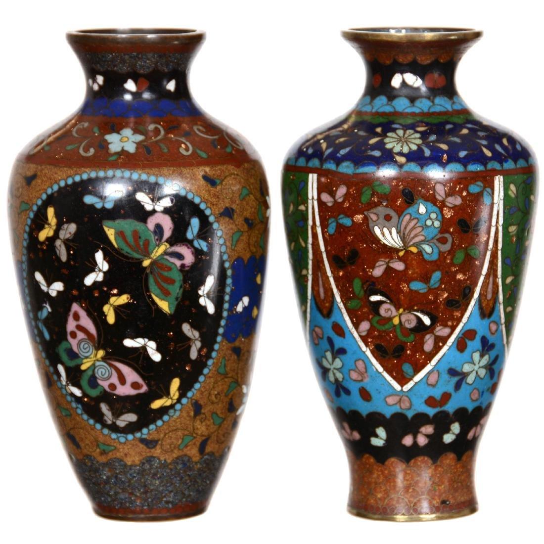 (2) Cloisonne Vases