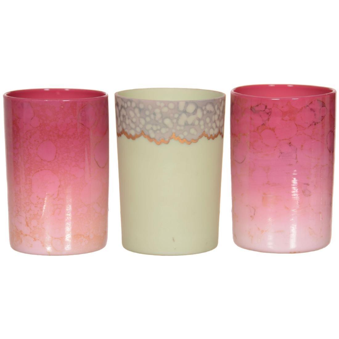 (3) New England Art Glass Tumblers