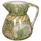 Staffordshire Historical Pottery Pitcher