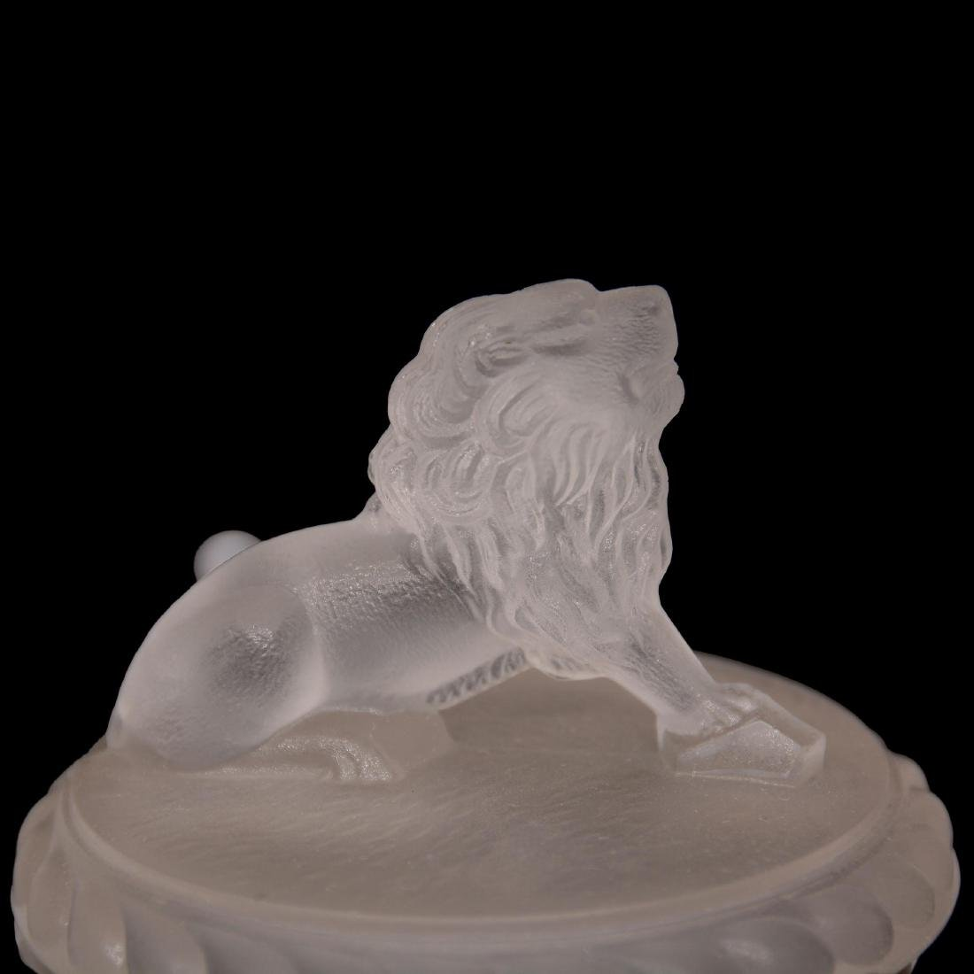 (5) Original Frosted Lion Pattern Glass Items - 3