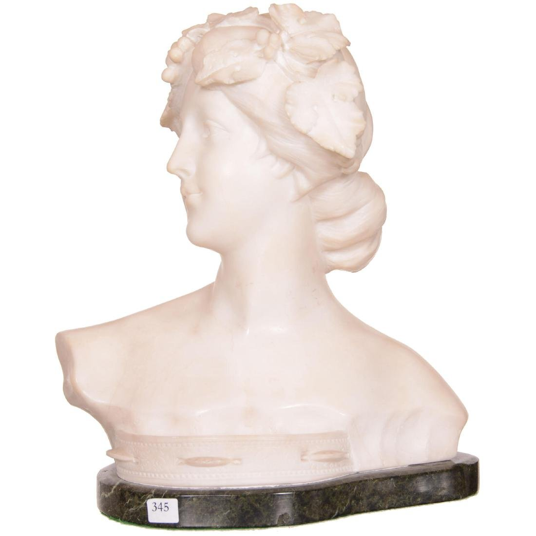 Italian White Marble Bust