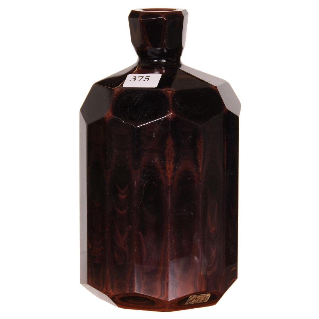 Bohemian Lithyalin Glass Bottle