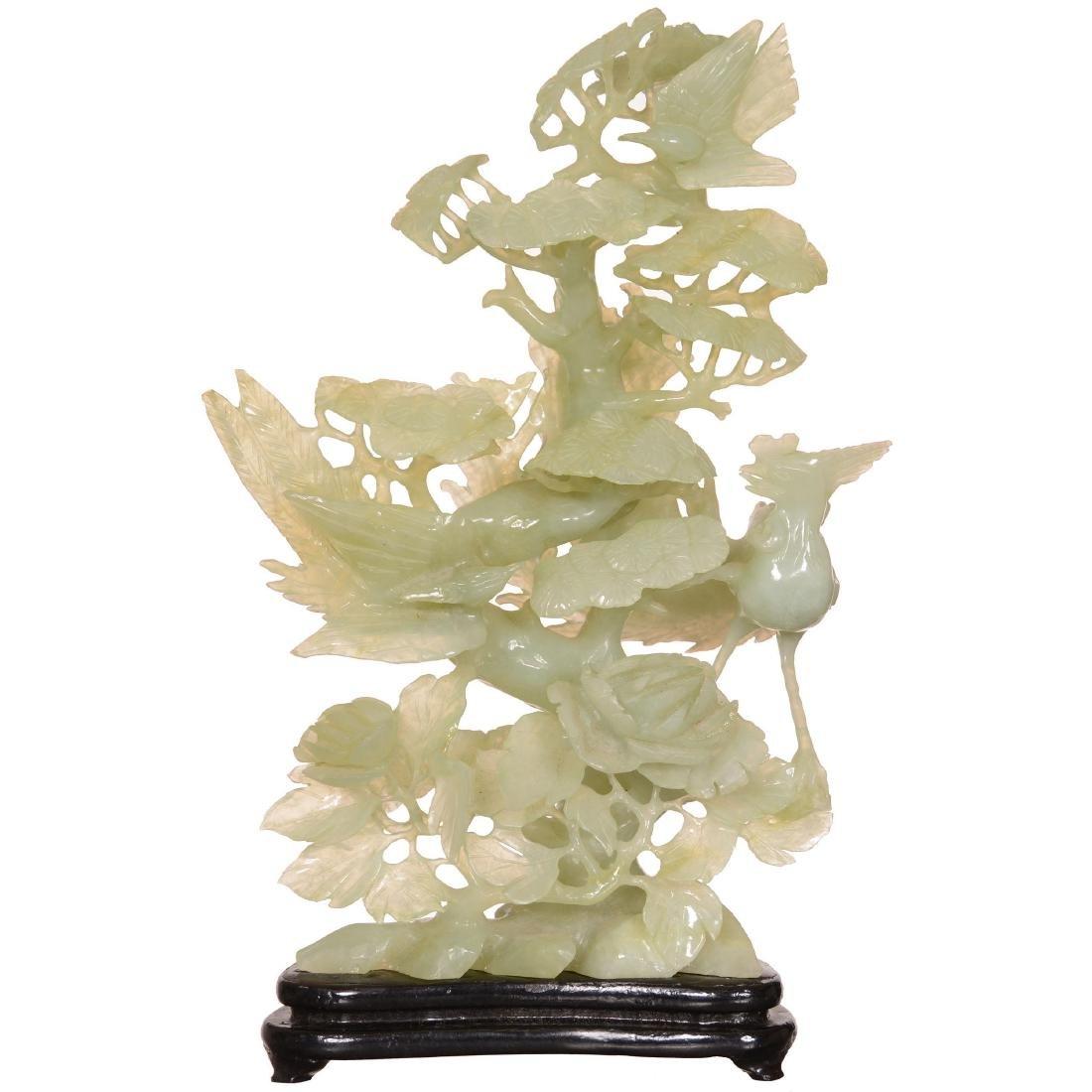 Carved Jade Figural Group
