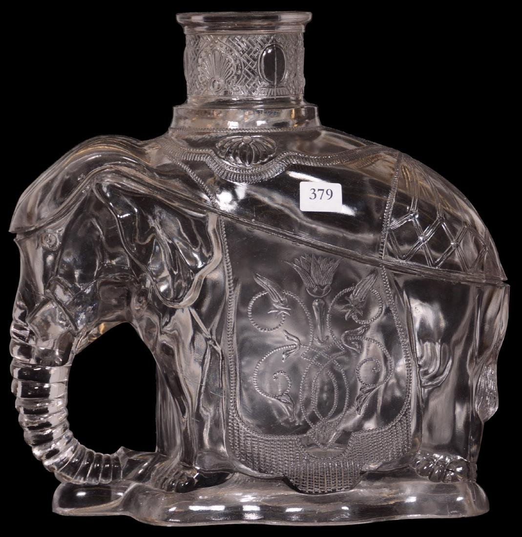 Rare Pattern Glass Figural Covered Container