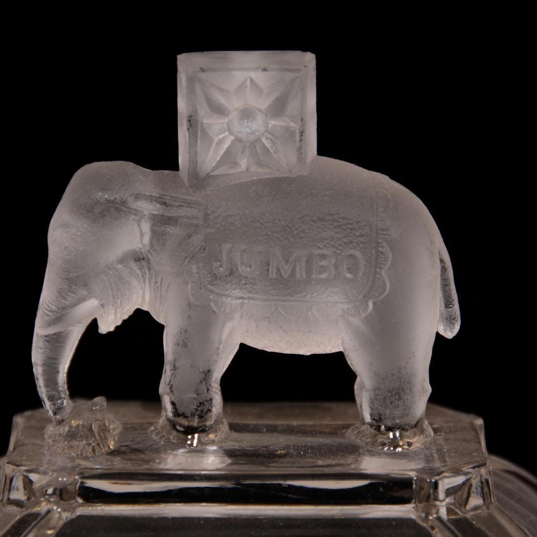 Original Jumbo Pattern Glass Butter Dish - 2