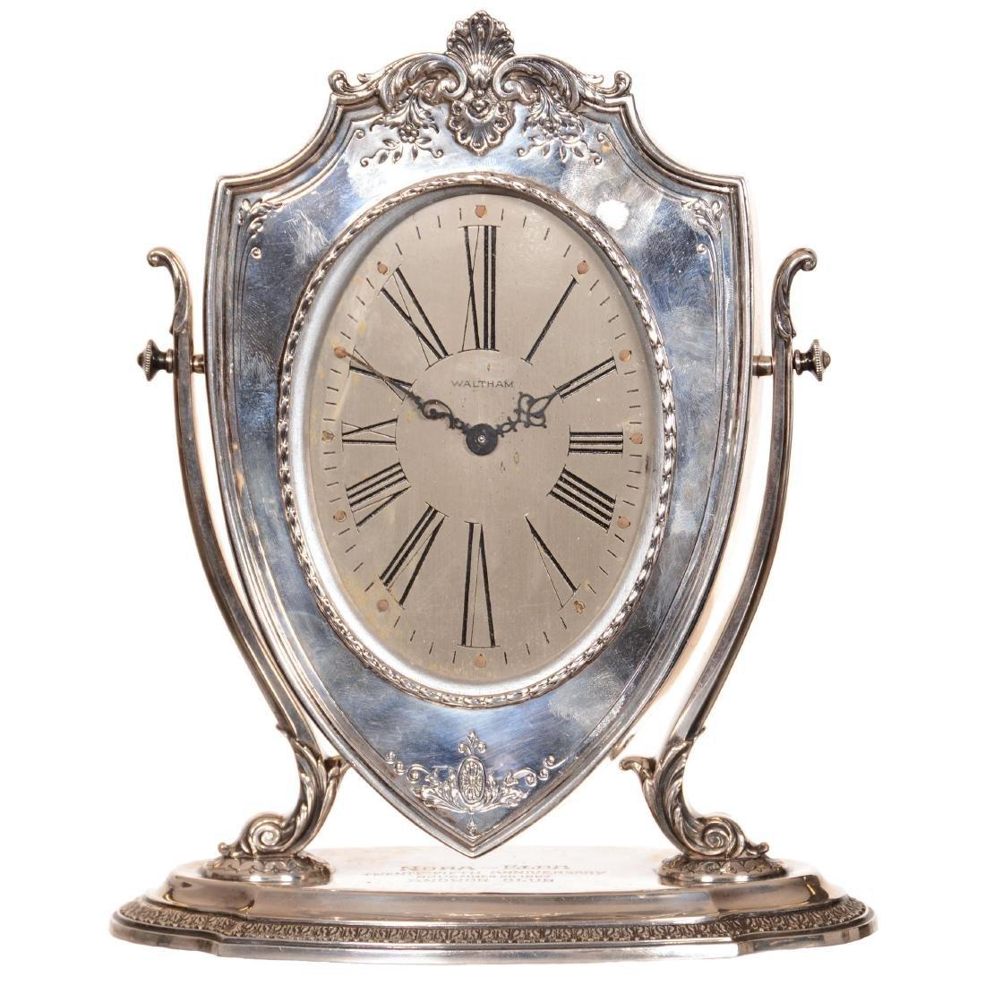 Sterling Silver Desk Clock