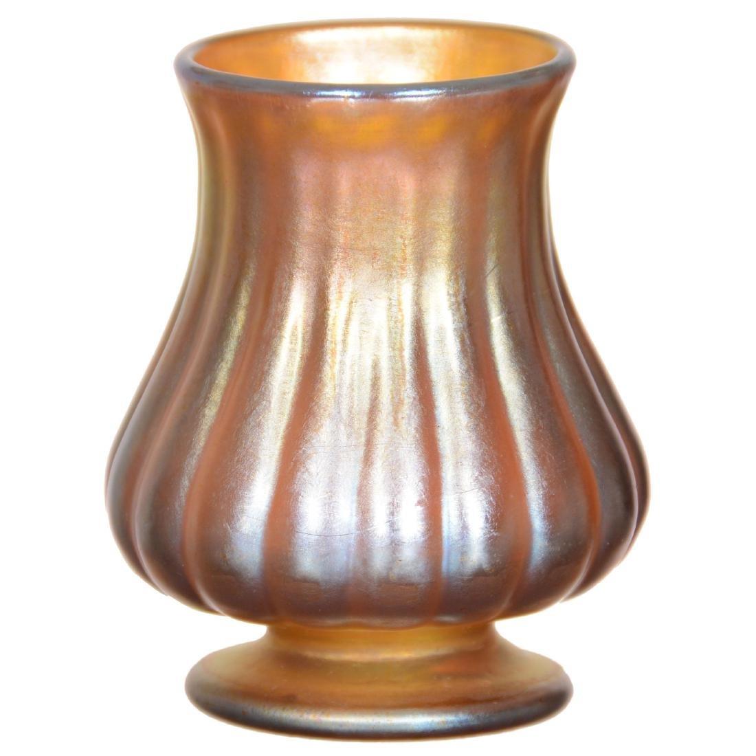 Tiffany Art Glass Pedestal Vase