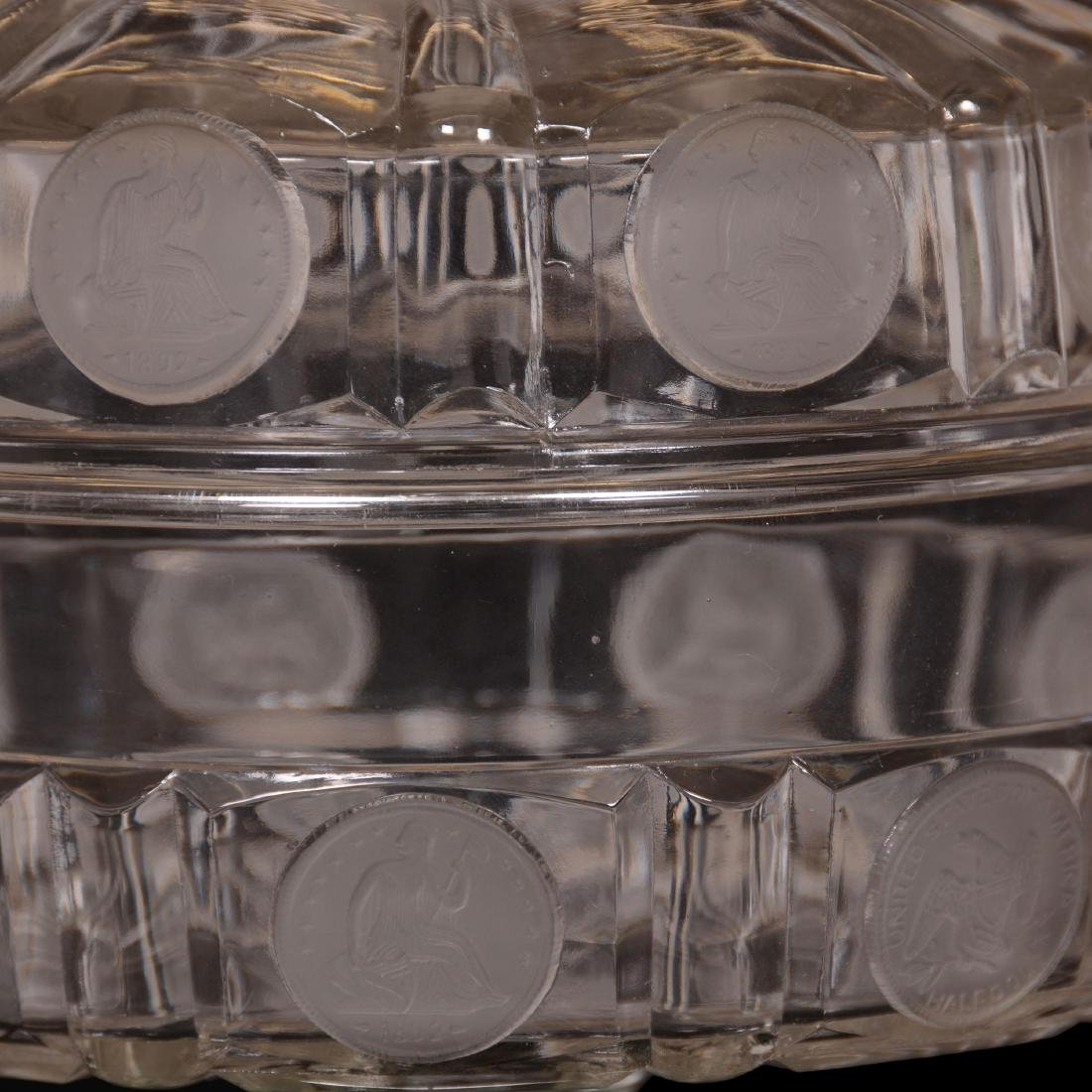 1892 American Coin Glass Covered Compote - 2