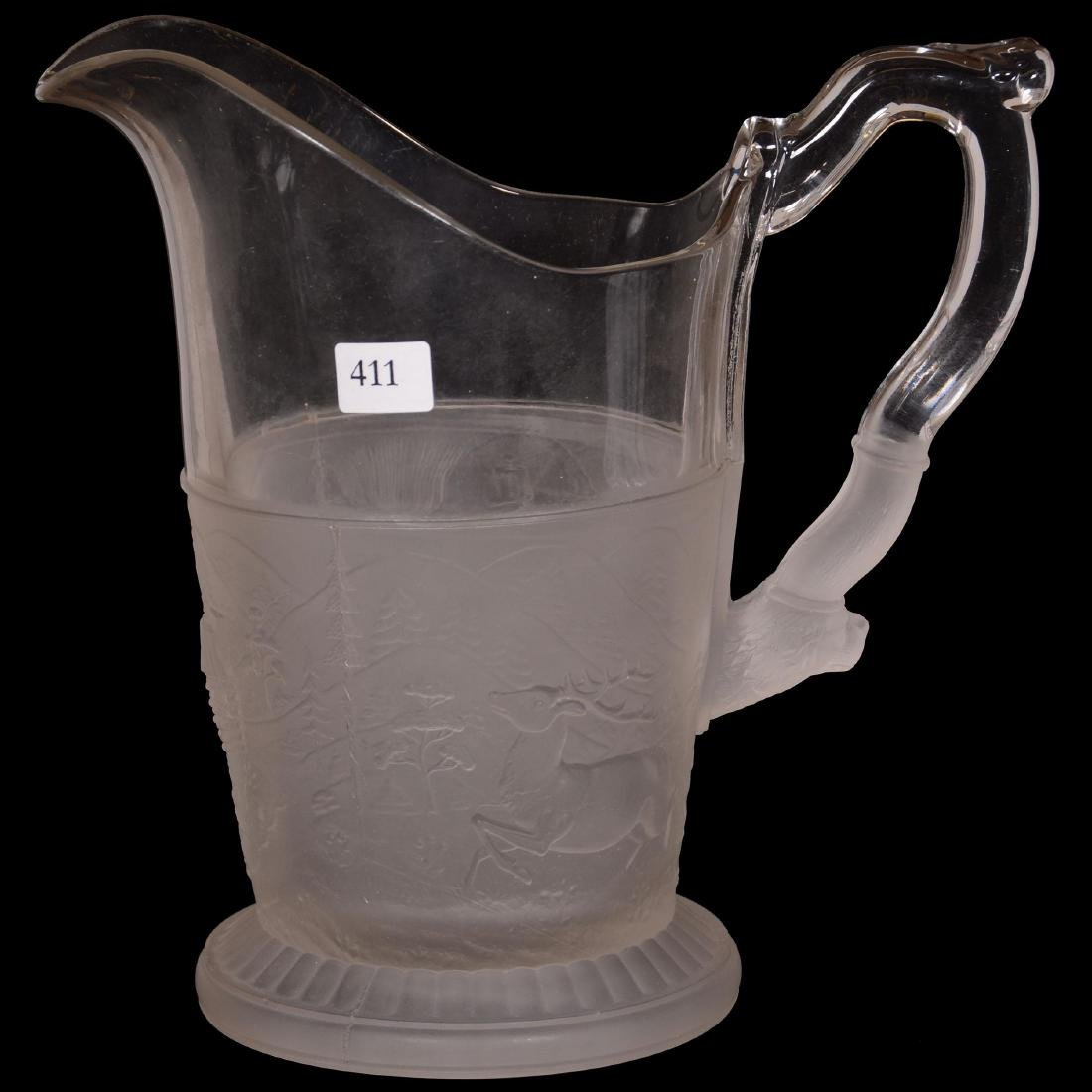Pattern Glass Water Pitcher