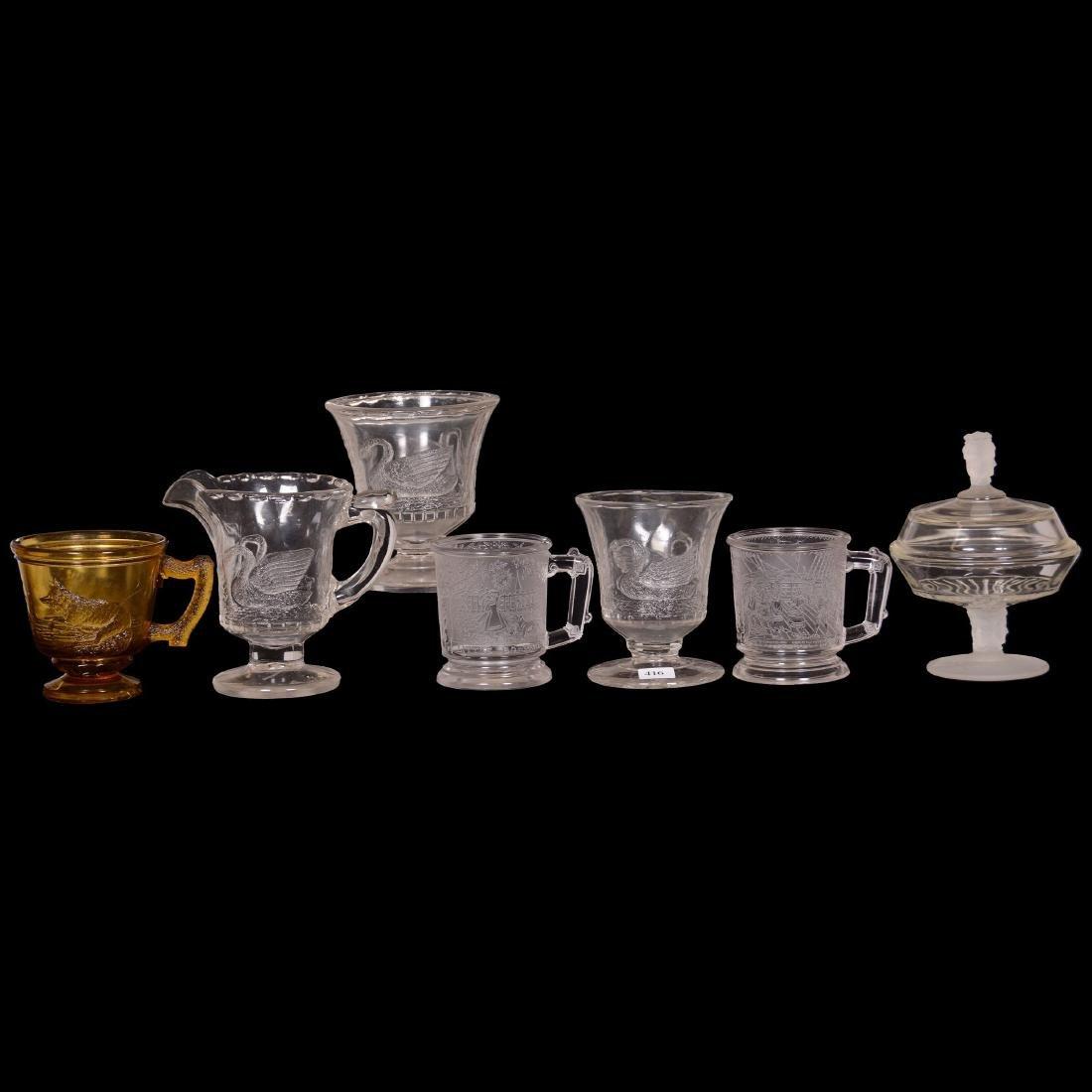 (7) Pattern Glass Items