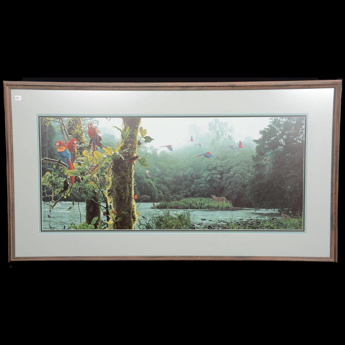 "Limited Edition Print Titled ""Rain Forest Rendezvous"""