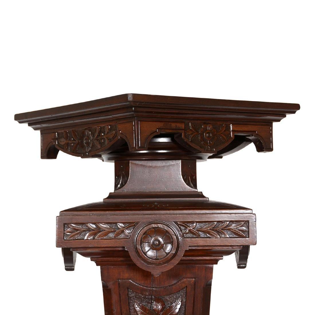 Carved Walnut Pedestal - 2
