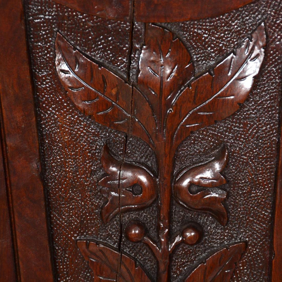 Carved Walnut Pedestal - 4