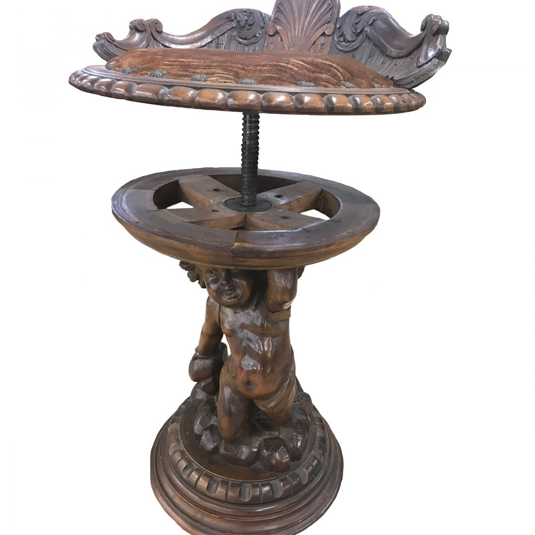 Finely Carved Wooden Stool - 5