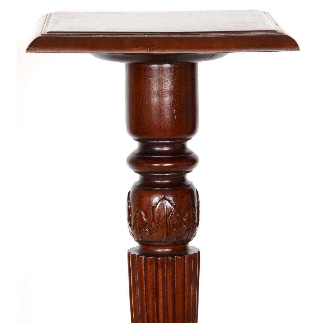 Carved Mahogany Plant Stand/Pedestal - 2