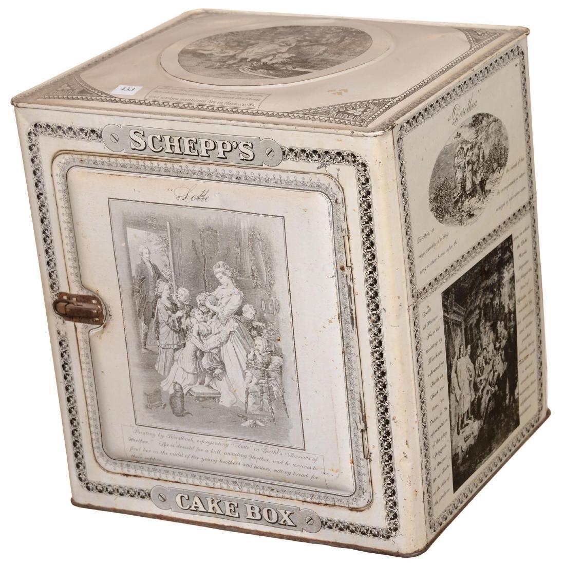 """Schepp's Cake Box"" Advertising Tin"