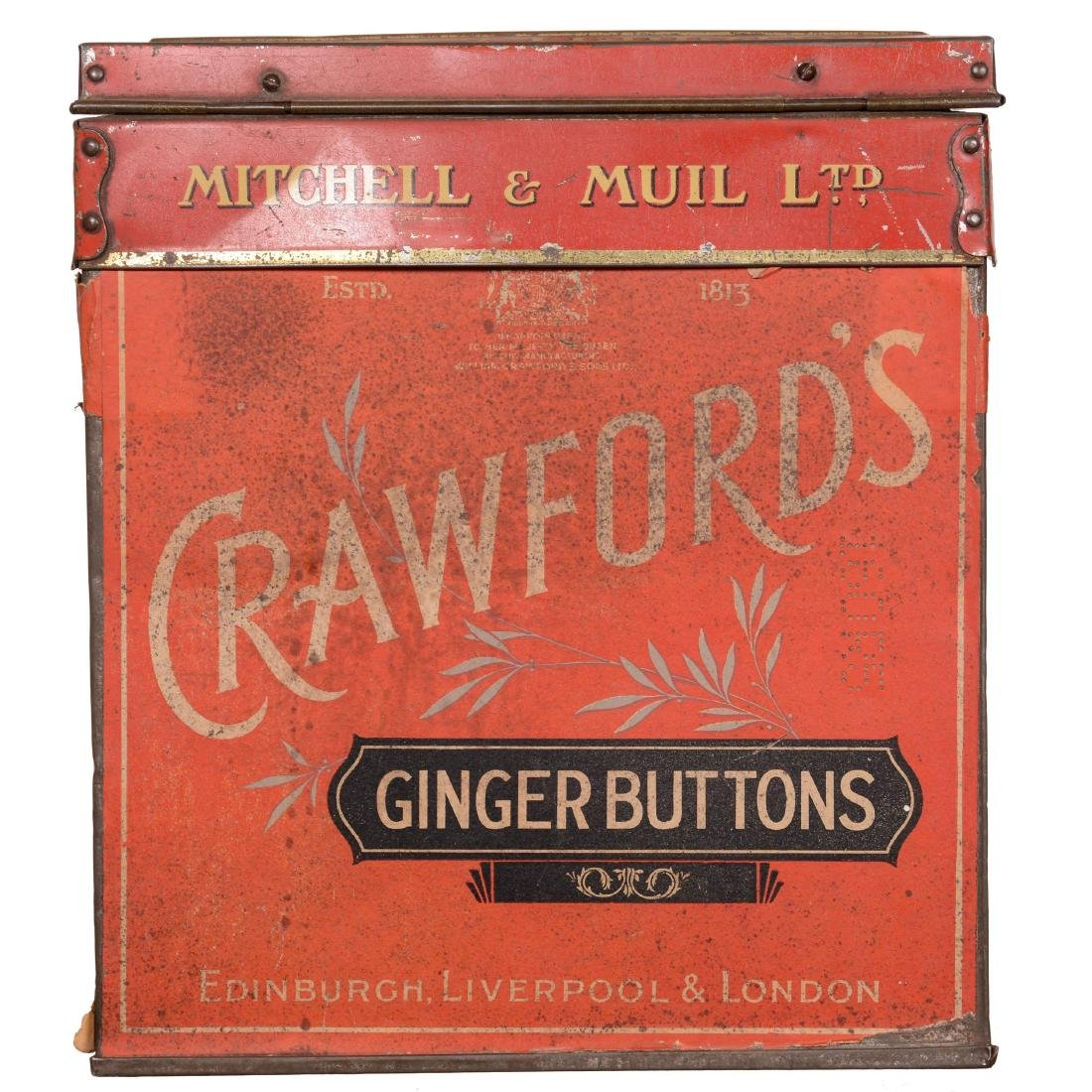 """Crawford's Ginger Buttons"" Advertising Tin"