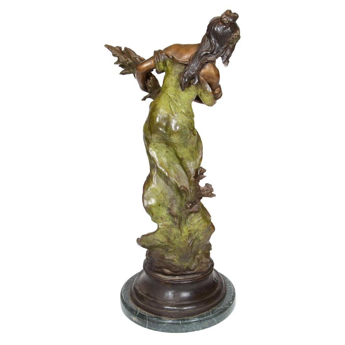 Bronze Sculpture of Woman Holding Sheaf of Wheat - 3