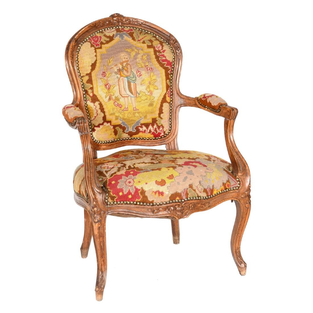 Victorian Carved Parlor Chair