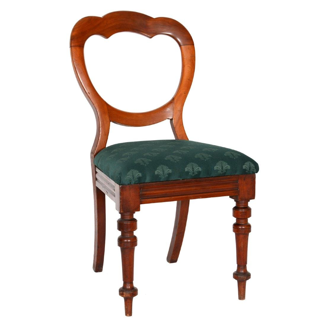 Victorian Carved Walnut Open Back Parlor Chair