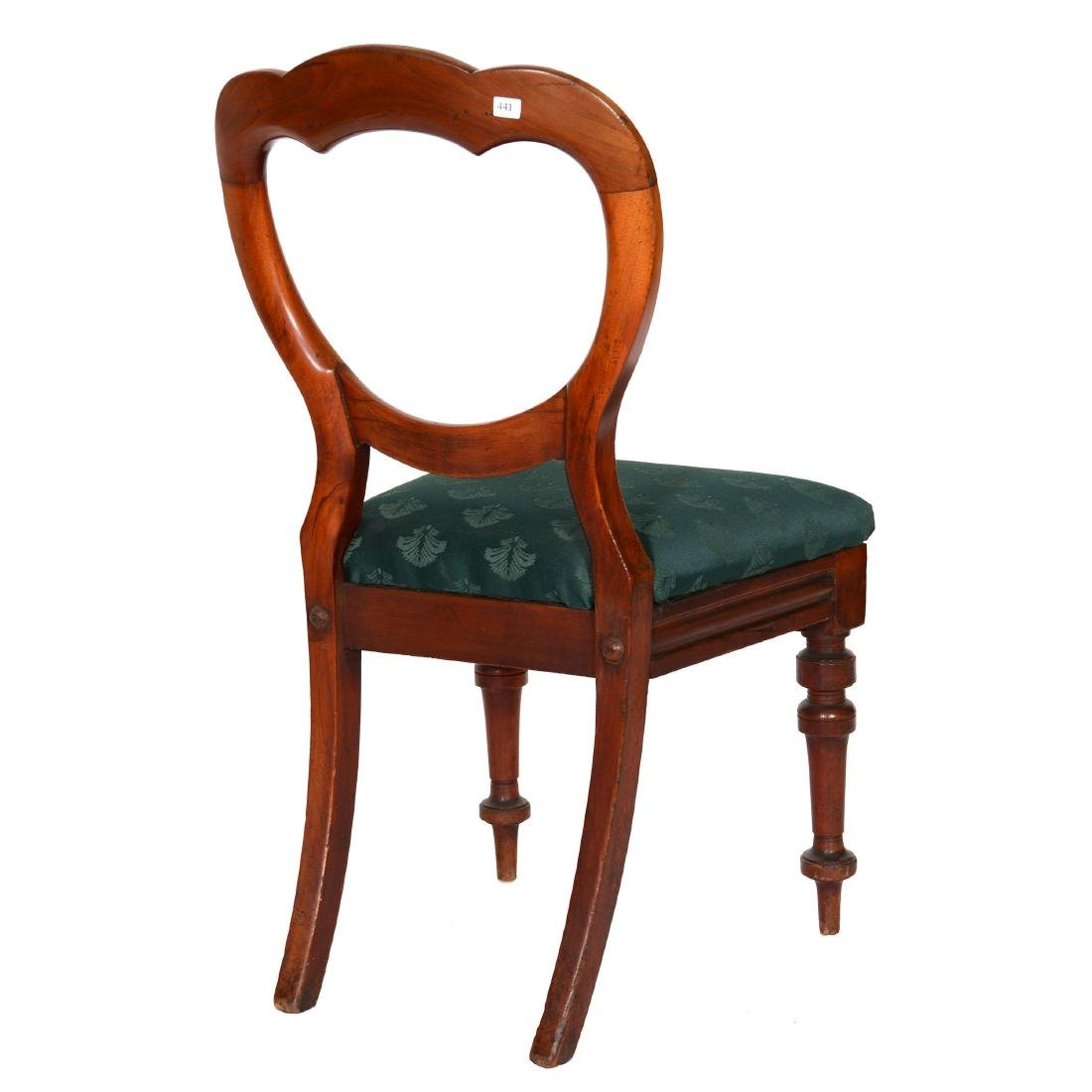 Victorian Carved Walnut Open Back Parlor Chair - 2