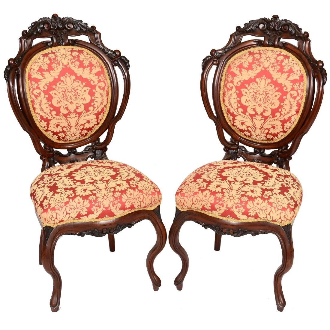 (2) Victorian Parlor Chairs