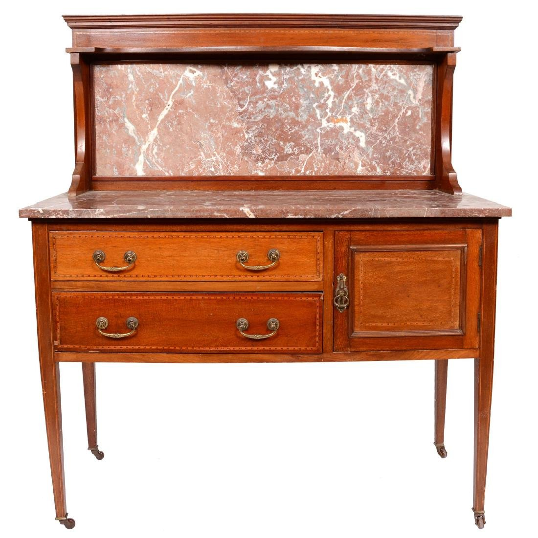 Marble Top Sideboard