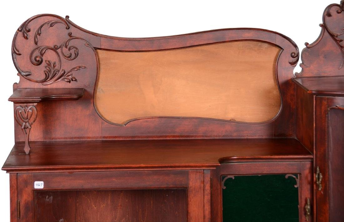 Mahogany Secretary with Display Case - 2