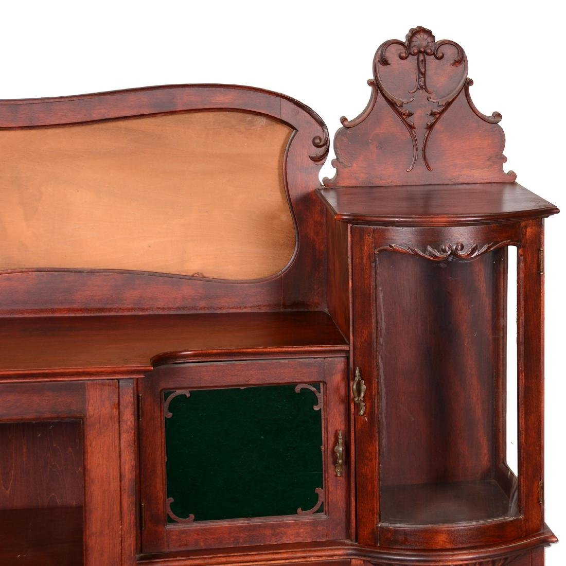 Mahogany Secretary with Display Case - 3