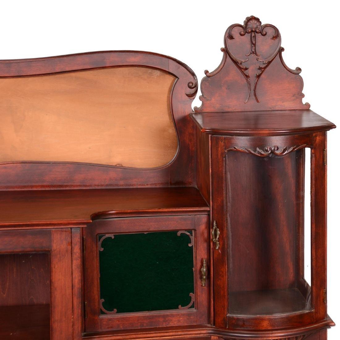 Mahogany Secretary with Display Case - 3