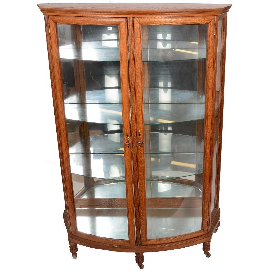 Oak Double Door China Cabinet